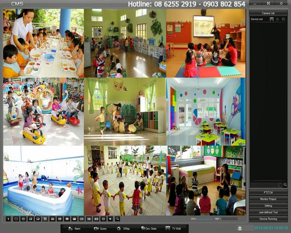 Lắp đặt camera cho trường mầm non tại huyện Hóc Môn